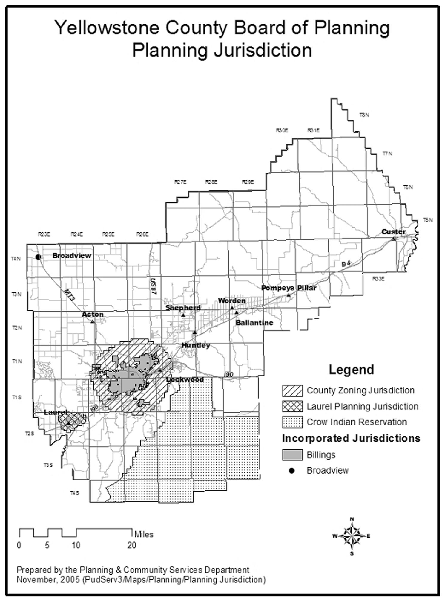 APPENDIX A - JURISDICTIONAL MAP | Code of Ordinances | Billings, MT ...