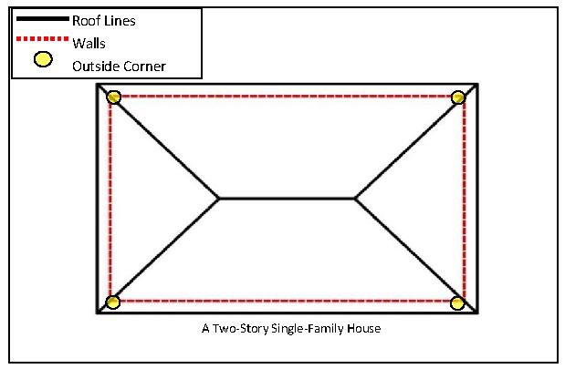 External Fascia Corner 135 Degree Offset Corner In Light Golden Oak Finish